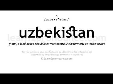 Uzbekistan pronunciation and definition