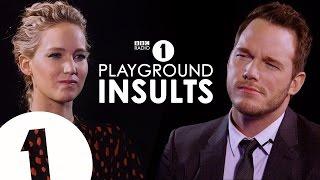 Jennifer Lawrence y Chris Pratt se insultan uno al otro (subtitulado)