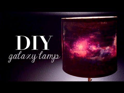 DIY Galaxy Print Lamp | Home Decor