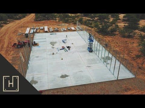 How To Build A DIY Off Grid Steel Garage – Versatube Base Rails (part 5)
