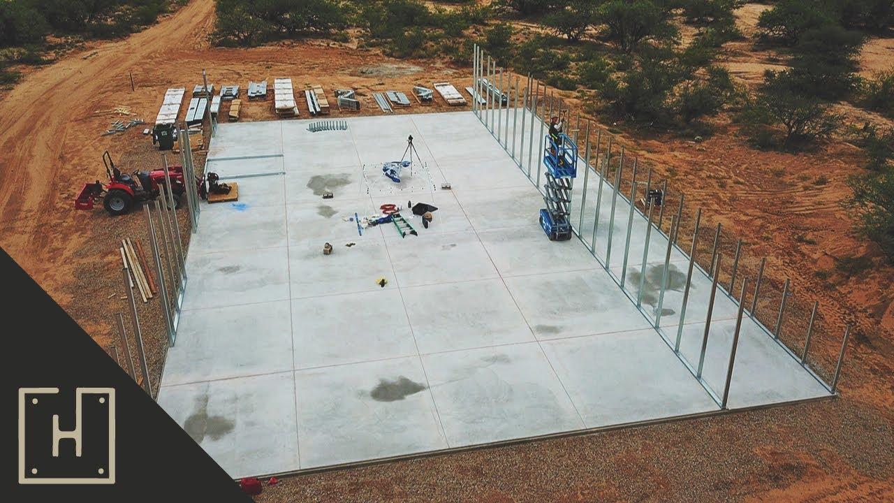 DIY Steel Garage - Versatube Base Rails (part 5)