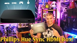 Create a fully immersive TV viewing and gaming experience with this Philips Hue Play HDMI sync box. The HDMI support for up to four devices lets you easily ...
