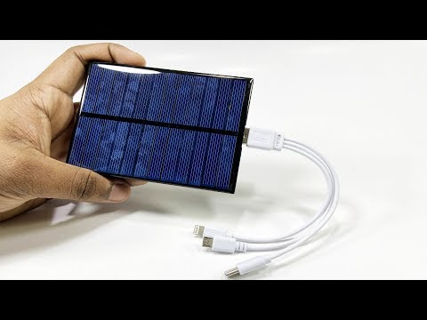DIY USB Solar Charger // Simple 5V USB charger