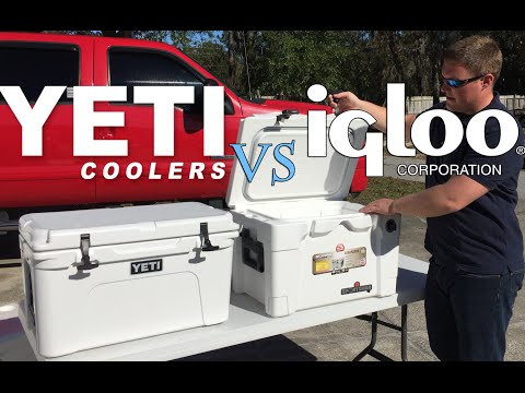 Yeti Tundra Vs Igloo Sportsman Cooler, Is It Worth $200 More For A Yeti? Ice Retention Test Results