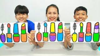 Mainan Maskara Cat Kuku, Warna Warni Belajar Menggambar dan Mewarnai untuk Anak