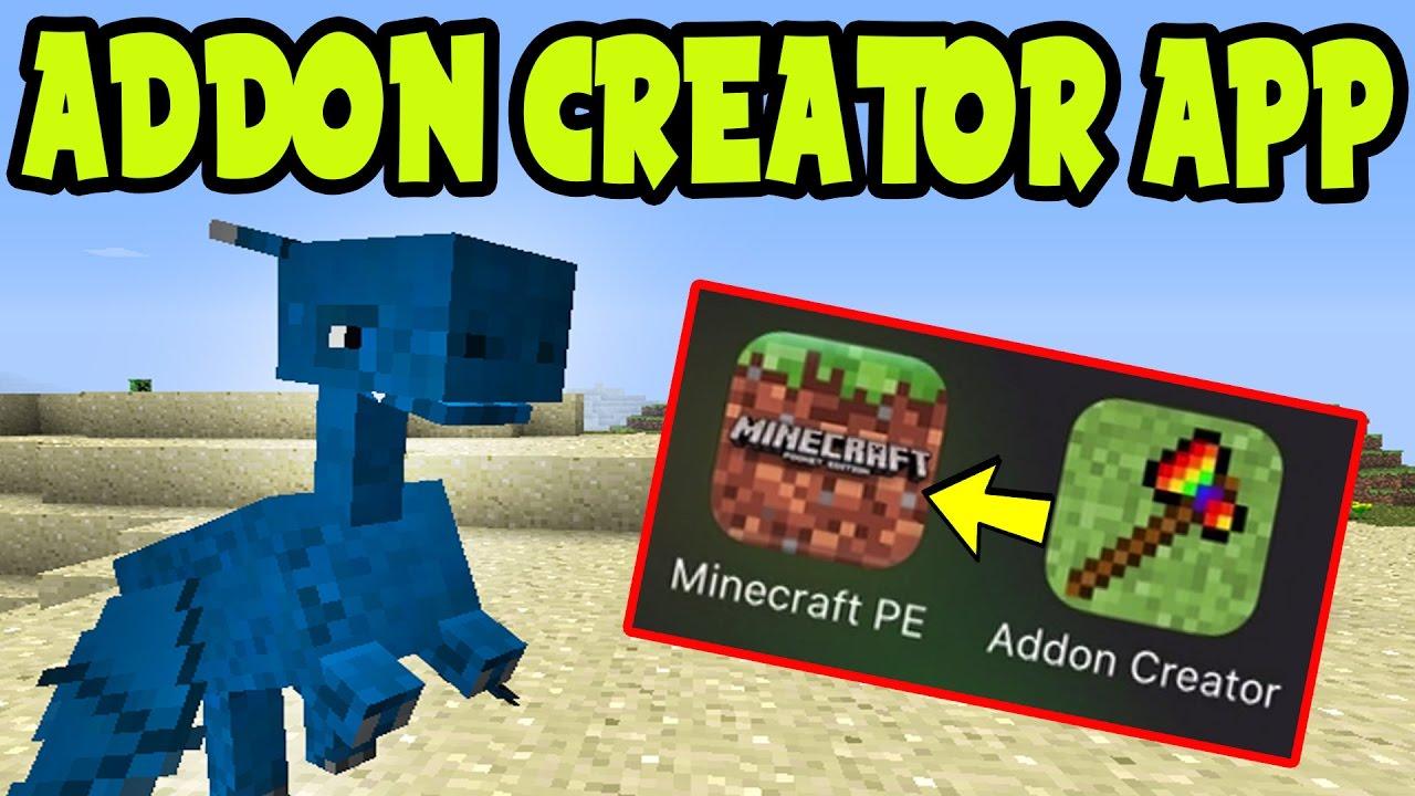 MCPE Addon Creator iOS App How To Make Addon Packs on Minecraft