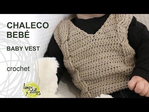 Tutorial Chaleco Bebé Crochet o Ganchillo - YouTube