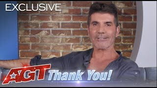 Simon Cowell Thanks Our 20 Million Subscribers | America's Got Talent
