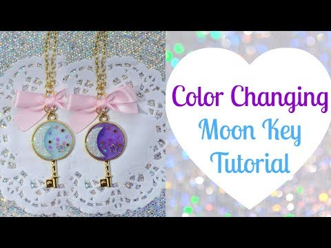 ✾Resin Tutorial: UV Color Changing Moon Key | ft. MiniatureSweet