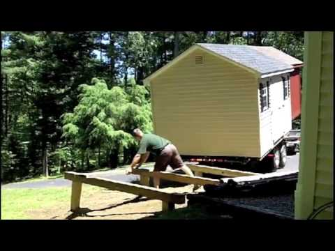 Laying a pier foundation to shed delivery youtube for Tiny house on foundation plans