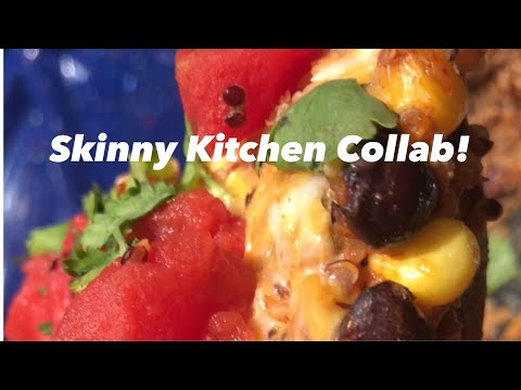 Skinny Kitchen Collab, Vegetarian Quinoa Enchilada Casserole