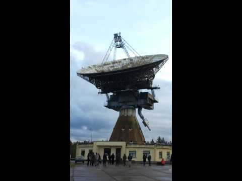 ex - SECRET SOVIET RADIO TELESCOPE RT-32 Turning