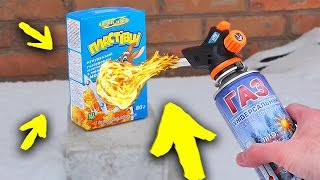 PAPER BOX vs GAS TORCH