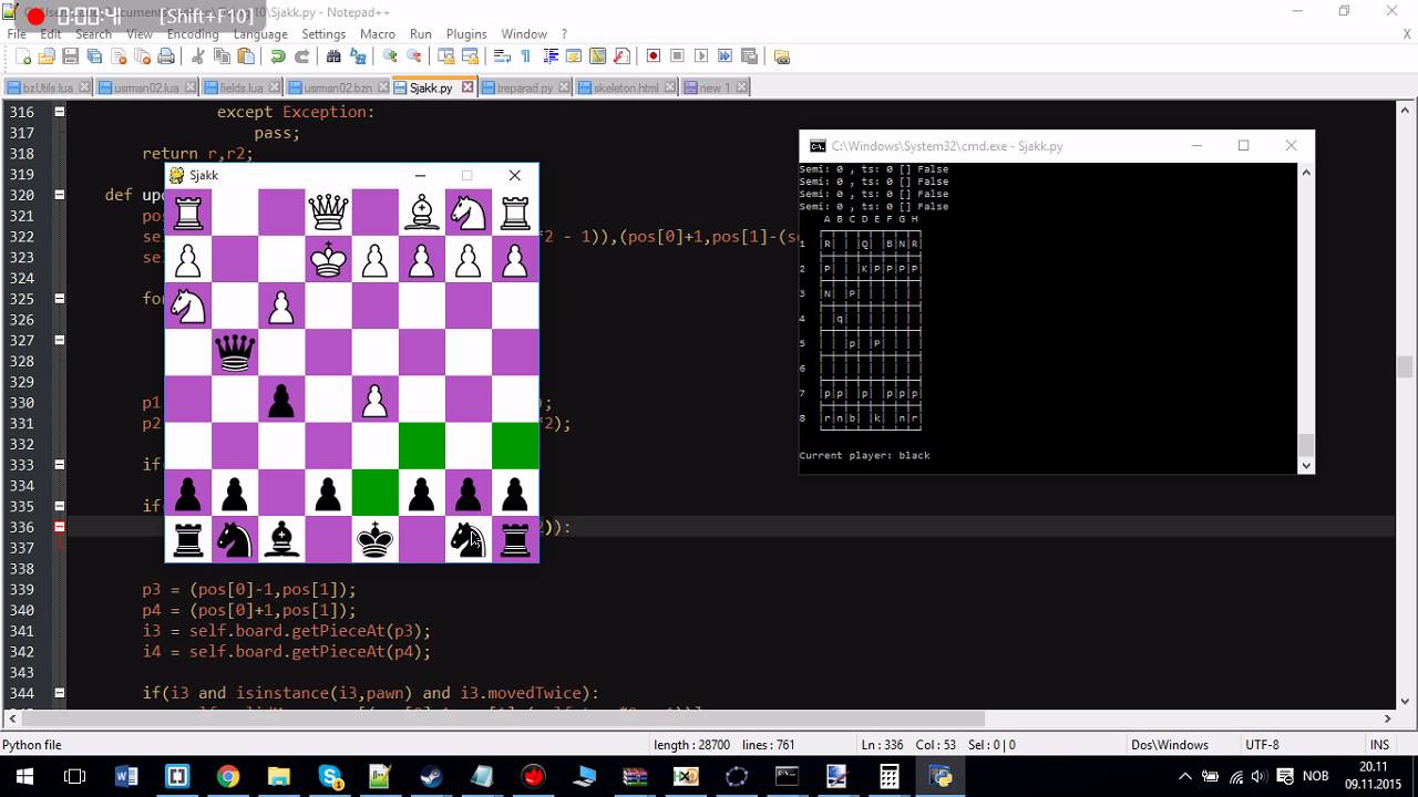 Chess in python with GUI