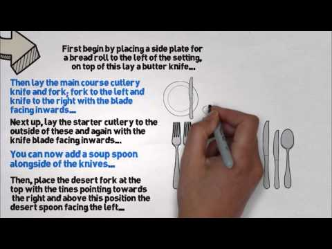 Learn How To Set A Restaurant Table [Step By Step Animation] - YouTube