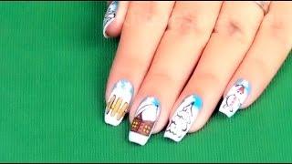 Inspiring Winter Nail Art Design By KhoobSurati.com