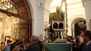 Santa Ana procesionó en el interior de Santa María Magdalena con motivo de su festividad