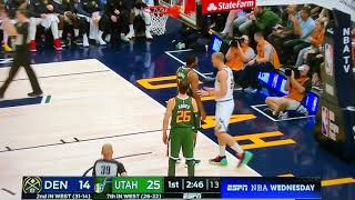 Denver Nuggets vs Utah Jazz Fight | two technical | ejection | Favors and Plumlee