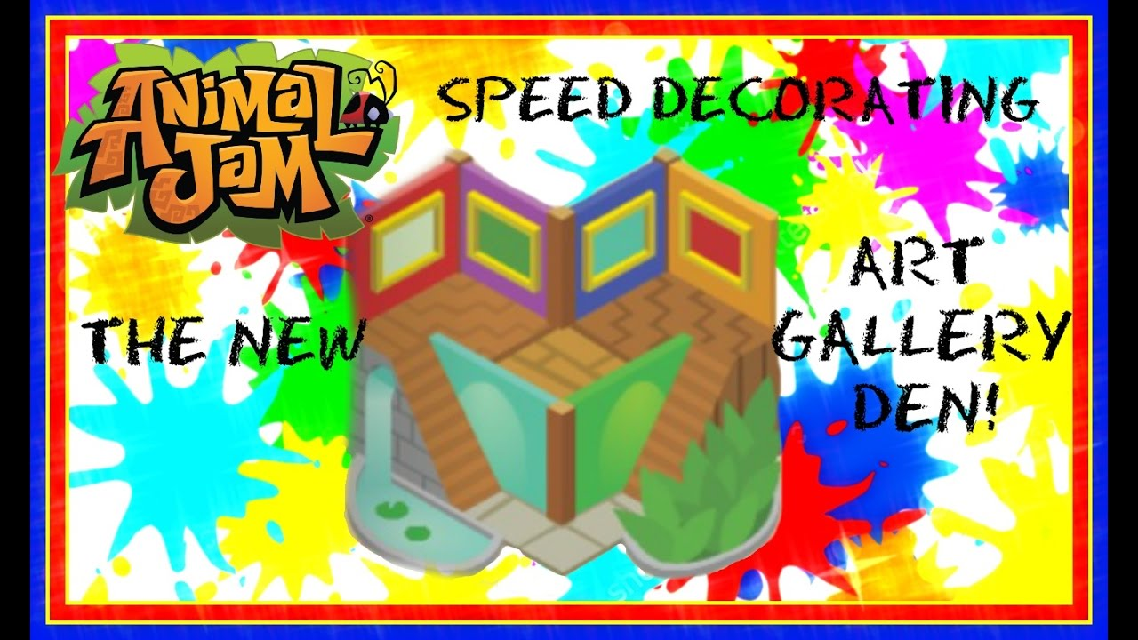 Download Animal Jam: Speed Decorating The Art Gallery Den (For Fall)