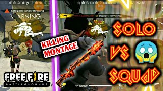 #FREEFIRE SOLO VS SQUAD HIGHLIGHTS