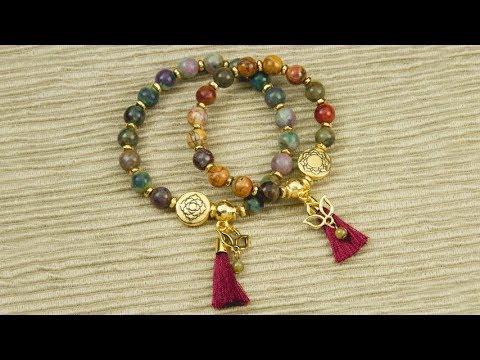 Artbeads Tutorial Make A Mala Style Stretch Cord Bracelet With