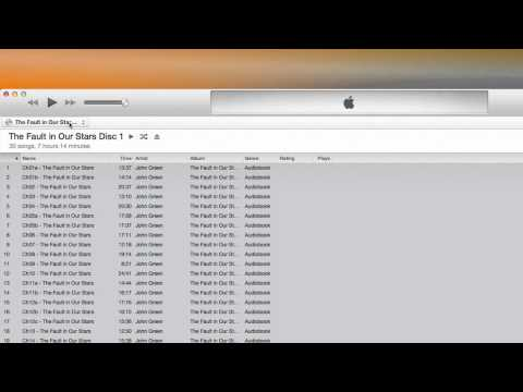 Uploading your audiobook into iTunes