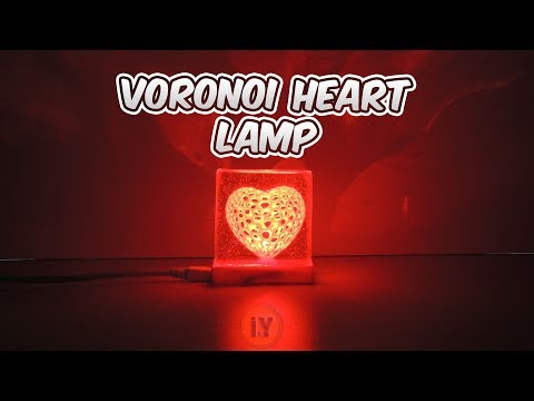 VORONOI HEART LAMP with Epoxy Resin