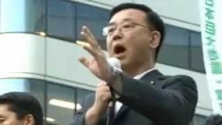 谷垣禎一総裁 街頭演説(東京・有楽町)2011.8.11