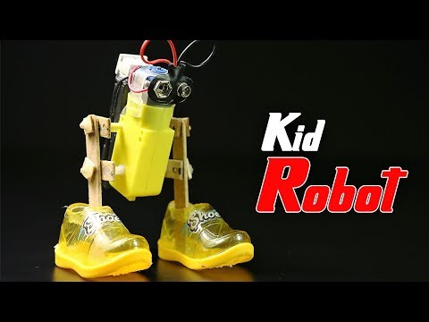 How To Make An Adorable  Walking Robot With Big Shoes