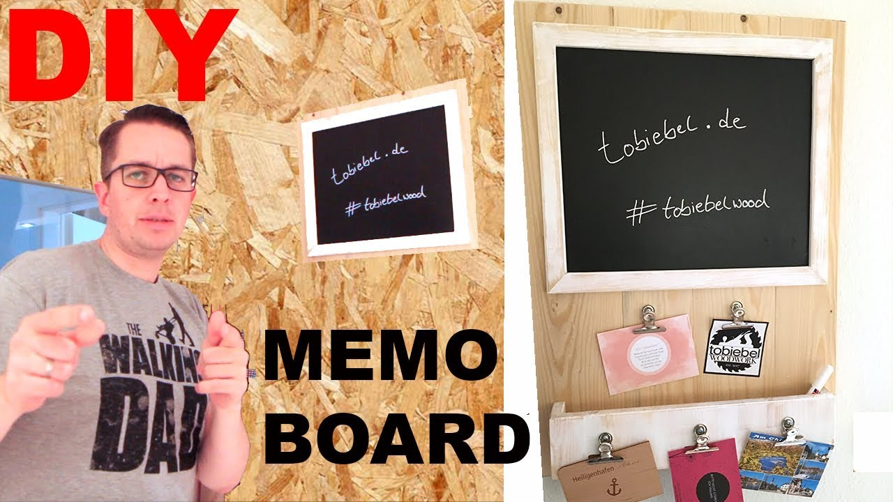 diy memoboard selber machen bauholz pinnwand message board kreidetafel desk organizer selber. Black Bedroom Furniture Sets. Home Design Ideas