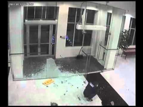 Guys Walks Through Glass Door Youtube
