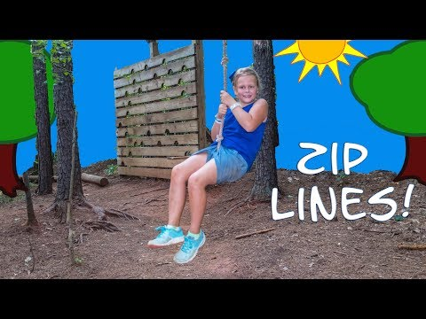 ASSISTANT Ninja Training with Zip Lines and Rope Courses Video