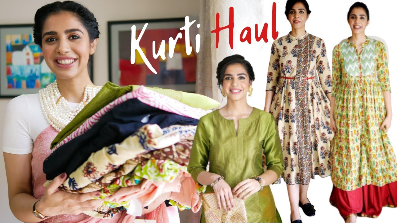 Try On Kurti Haul from Myntra & Ajio | Rakhi Special