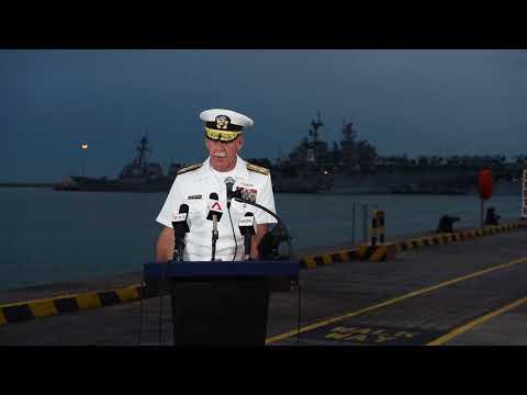 Adm. Scott media availability at Changi Naval Base, Singapore