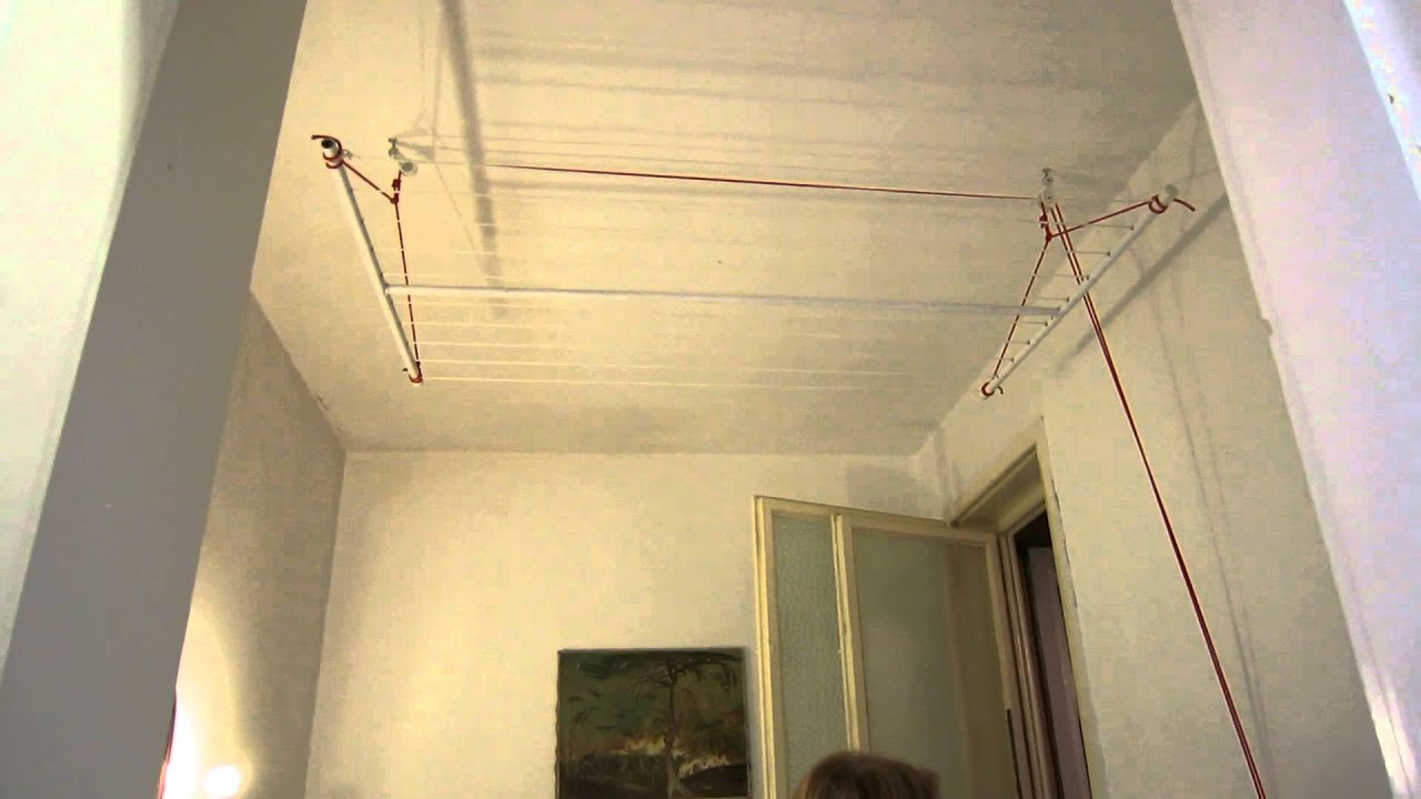 Clothes Rack With Pulleys Youtube