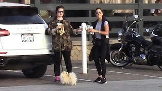Kelly Osbourne Rocks Camo During Coffee Date With A Gal Pal