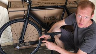 Fixie City 6KU Fixie Urban Track Bike Unboxing and Assembly
