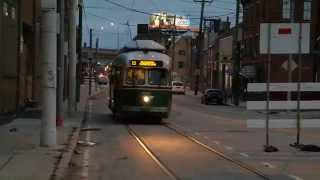 SEPTA Rt. 15  featuring the PCC II streetcar ~ Philadelphia, PA
