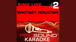 Love Will Save The Day (Karaoke Instrumental Track) (In the Style of Whitney Houston)