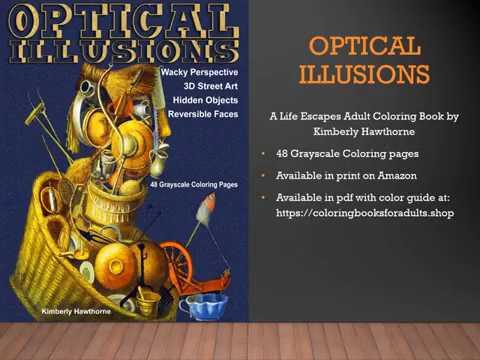 Optical Illusions Adult Coloring Book Flip Thru