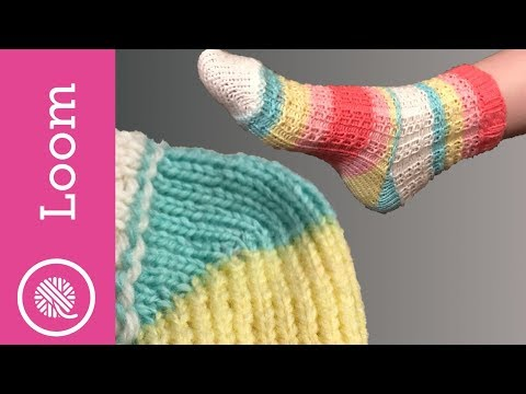 Loom Knit Socks: Quick And Easy Heel And Toe