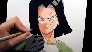 Android 17 from Dragon Ball Super | speed drawing