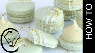Pistachio French Macarons with Ganache by Cupcake Savvy