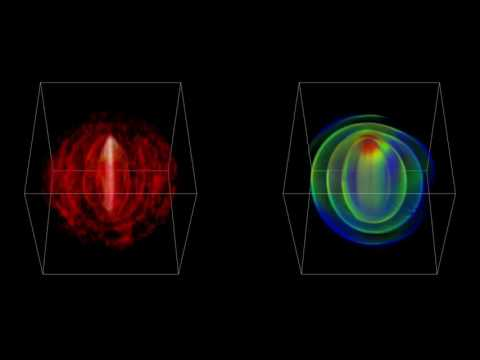 3-D visualization of the molecular gas material surrounding LL Pegasi