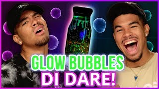 Video GLOW IN THE DARK BUBBLES!? Di Dare w/ Bell Twins download MP3, 3GP, MP4, WEBM, AVI, FLV November 2017