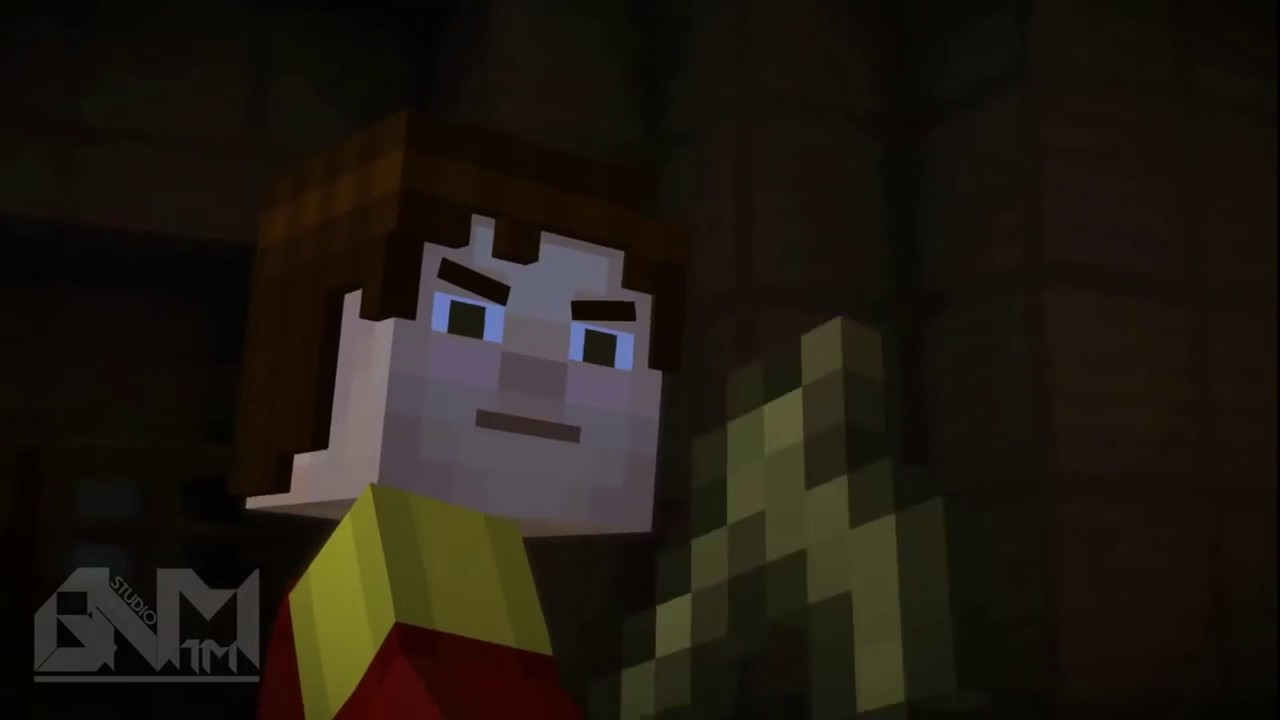 Hello neighbour in Minecraft Story Mode