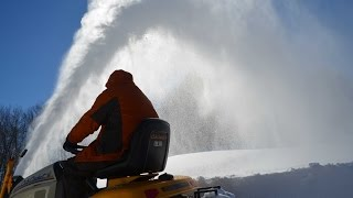 cub cadet tractor mounted snow thrower during snowzilla day 2