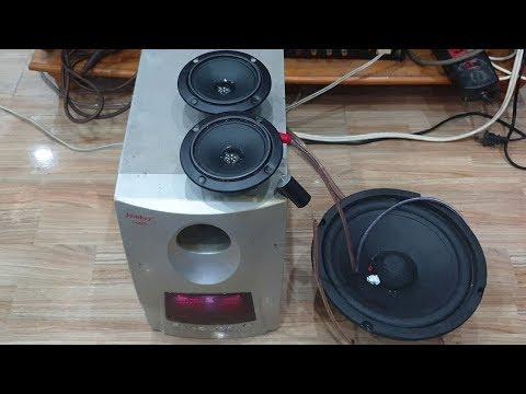 Đấu Loa Sub Vi Tính Với Amply Và Test Loa Bass 20 Loa Treble BM 302