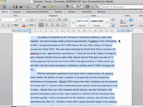microsoft word thesis template