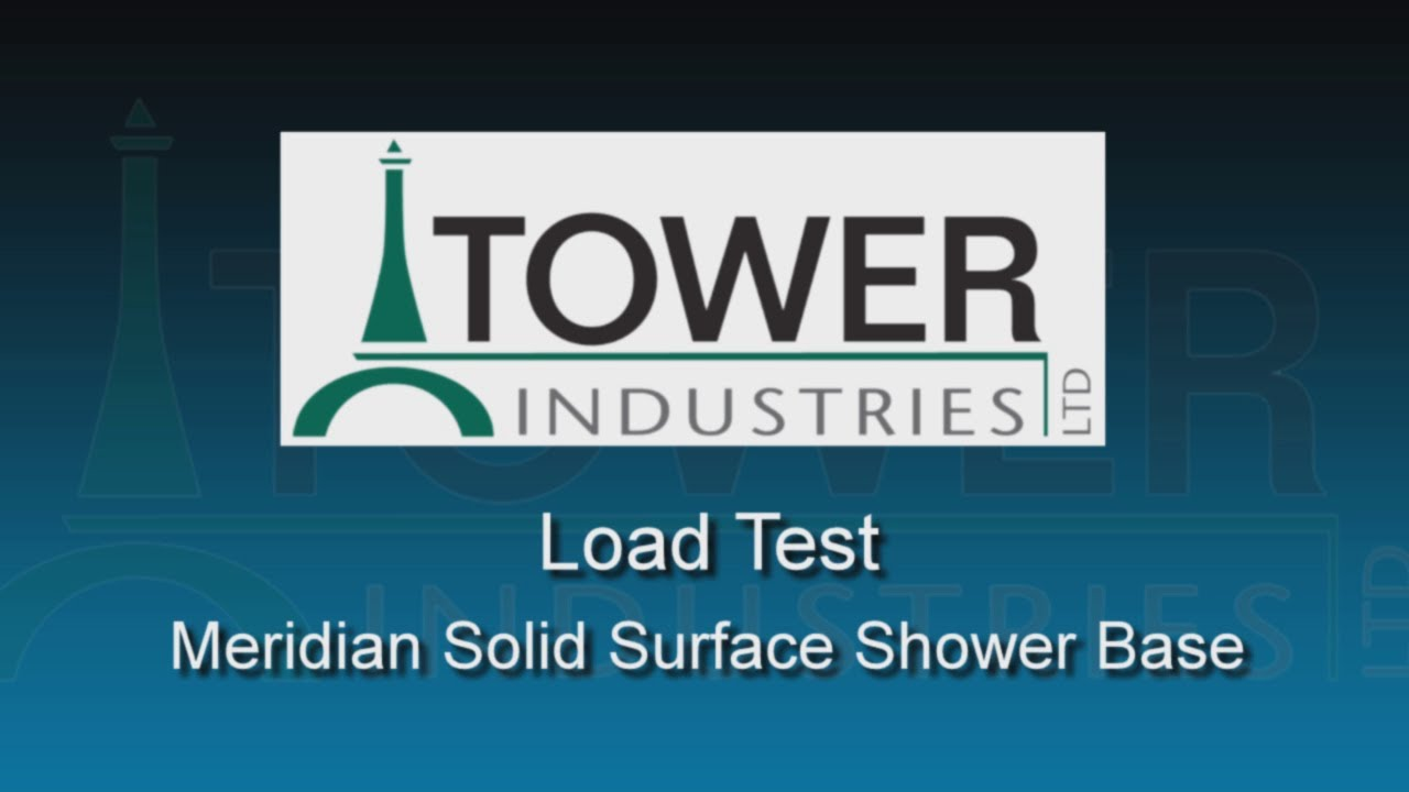 Load Test on Meridian Solid Surface Shower Base - YouTube